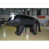 Attractive Custom Inflatable Products , Black Animal Large Inflatable Cow Manufactures