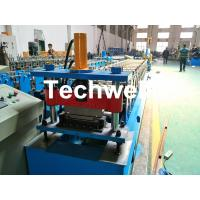 Aluminium , PPGI Standing Seam Cold Roll Forming Machine With Hydraulic Cutting Type Manufactures