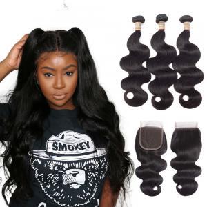 Natural Color Unprocessde Virgin Brazilian Hair Extensions For Black Women Manufactures