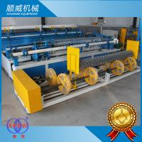 Double / Single Wire Chain Link Mesh Machine Weaving Diameter 1.4mm - 5.0mm Manufactures