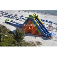 CE Approved Commercial Inflatable Dry Slides Fireproof For Water Game Equipment Manufactures