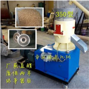 3mm cat litter pellet making line SKJ450 flat die pellet line 1000kg per hour with soybean curb residue Manufactures