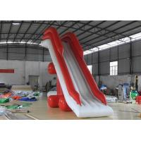 Good Tension Red / White Children Inflatable Slide For Water Park Equipment Manufactures