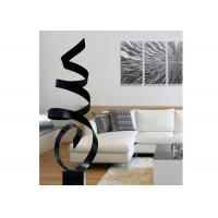 Modern Abstract Painted Metal Ribbon Sculpture For Interior Decoration Manufactures