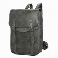 Multi Pocket Business Leather Backpack , Mens Leather Backpack With Durable Anti Oxidation Metals Manufactures