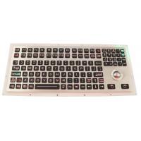 Backlit Industrial Ruggedized Keyboard IP67 116 Keys With Numeric Keypad Manufactures