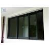 Buy cheap Black Color Aluminium Sliding Windows Powder Coating Corrosion Resistant from wholesalers