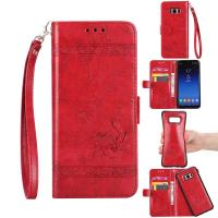 Quality Oil Wax Leather 2 In 1 Wallet Case For Samsung S8 Plus Scratch Resistant for sale