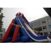giant blue and red colours water slide Manufactures