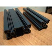 Black Sandblasting Anodized Industrial Aluminium Section Profile For Assembly Line And Production Line Manufactures