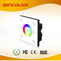 P4 12v-24v 4ch led rgbw touch panel controller RGBW led touch dimmer 86 socket Manufactures