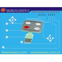 Push Button Flexible Membrane Panel Switch With LED , Thin Film Switch Manufactures