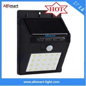 Quality IP65 PIR Solar Lights Motion Sensor 20LED 300lumens 4W Solar Garden Wall Light for Landscaping and Illumination for sale