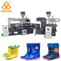 PVC Short Boot Shoe Factory Production Line , Rotary Injection Molding Machine  Manufactures
