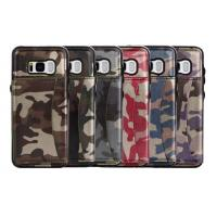 Quality Camouflage Samsung S8 Plus Wallet Case , Back Cover Custom Leather Phone Cases for sale