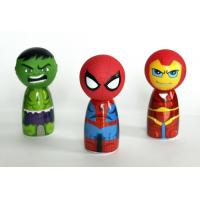 7cm Diameter Rubber Bath Toys Avengers / Sophia Princess Head For Shampoo Bottle Cover Manufactures