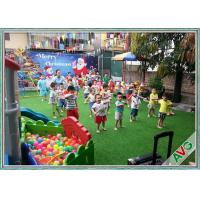 ISO / SGS Qualified Artificial Grass For Children Friendly Playground Turf Manufactures