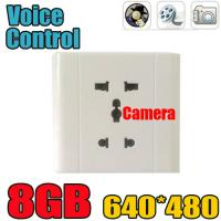 Home Security Wall Socket Outlet DVR Spy Hidden Camera Surveillance Audio Video Recorder Manufactures
