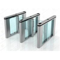 Servo Driver Slim Automated Security Gates / Train Station Turnstile Security Systems Manufactures
