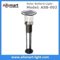 D26H80cm solar driveway lighting bollards for residences with 4W solar panel stainless steel material Manufactures