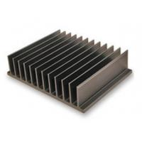 Bright Black Aluminum Heatsink Extrusion Profiles / Electronic Radiateor Manufactures