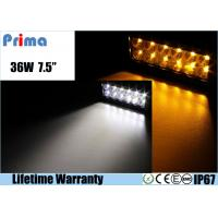 36W Remote Control LED Light Bar , Double Row Amber White Led Offroad Light Bar Manufactures