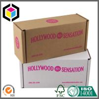 Pink Color Logo Printing Corrugated Box; Flexo Folding Cardboard Shipping Box Manufactures
