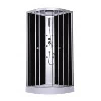 Buy cheap 900x900x2150mm Fashion Massage Corner Shower Stalls , Circle Quadrant Shower Cabin with white acrylic tray and roof from wholesalers