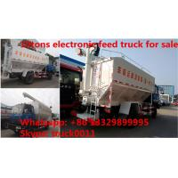 Quality Euro 4 dongfeng 190hp diesel 20m3 livestock and poultry feed truck for sale, best price 10tons feed transported truck for sale