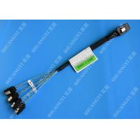 30 AWG Mini SAS Serial Attached SCSI Cable , 36P SFF 8087 To SATA Breakout Cable With Latch Manufactures
