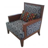 Hotel fabric lounge chair ,single sofa LC-0016 Manufactures