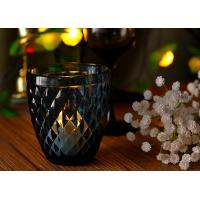Mouth Blown Glass Candle Holders For Wedding , Candle Glass Containers Manufactures