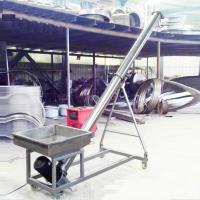 Stainless steel auger feeder / flexible screw conveyor for grain Manufactures