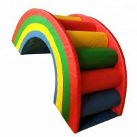 Rainbow Style Indoor Soft Play Equipment , Colorful Commercial Play Equipment Manufactures