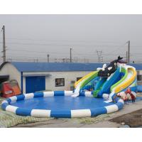 Best price summer fun kids games killer whale design inflatable water park with free air blower Manufactures