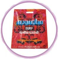 Imprinted Die Cut Handle Bags With Colorful Printing , Red / Orange Manufactures