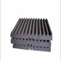 China Mn13Cr2 Jaw Crusher Liner Plate Jaw Plate Mining Machine Spare Parts on sale