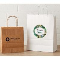 Custom Printed Clothing Paper Bags , Paper Shopping Bags With Handles Manufactures
