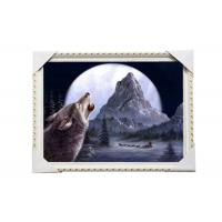 CMYK 3D Wolves Image Lenticular 3d Pictures PS Frame For Office Decoration Manufactures