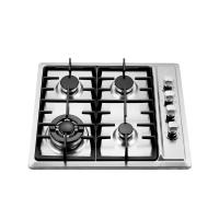 4 Burner Gas Hob Stainless Steel , Auto Ignition Gas Hob 580 X 500 Mm Manufactures