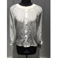 Casual White Crew Neck Blouse , Women'S Summer Blouses / Shirt BGW001 Manufactures