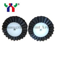 2019 customized size hard bristle Brush wheel For Pressing Paper black color Manufactures