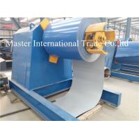 Automatic High speed Hydraulic Uncoiler / Decoiler Equipment With Conveyor Manufactures