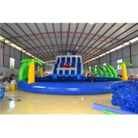 0.9mm PVC Tarpaulin Inflatable Water Toys , Giant Swimming Pool Family Water Slide Manufactures