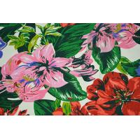 Natural Cotton Fabric / 16OZ Cotton Canvas With Nice Flower Printing Manufactures