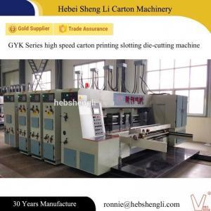 China High Speed Flexo Printer Slotter , Flexo Corrugated Machine CE Certificate on sale