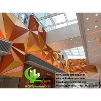 Folded 3D Aluminum Facade Panels , Aluminum Curtain Wall 600x1200mm Size Manufactures