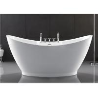 European Style Resin Freestanding Tub , Custom Size Deep Soaker Tubs For Adults Manufactures