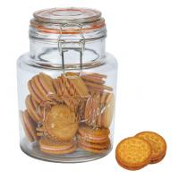 Capacity 1.5L glass food storage jars with lids / glass canister jars Promotional Gifts eco-friendly Manufactures