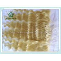 Brazilian virgin remy hair silk lace frontal 13''x4'' ,613# color body wave 10''-24''hair Manufactures